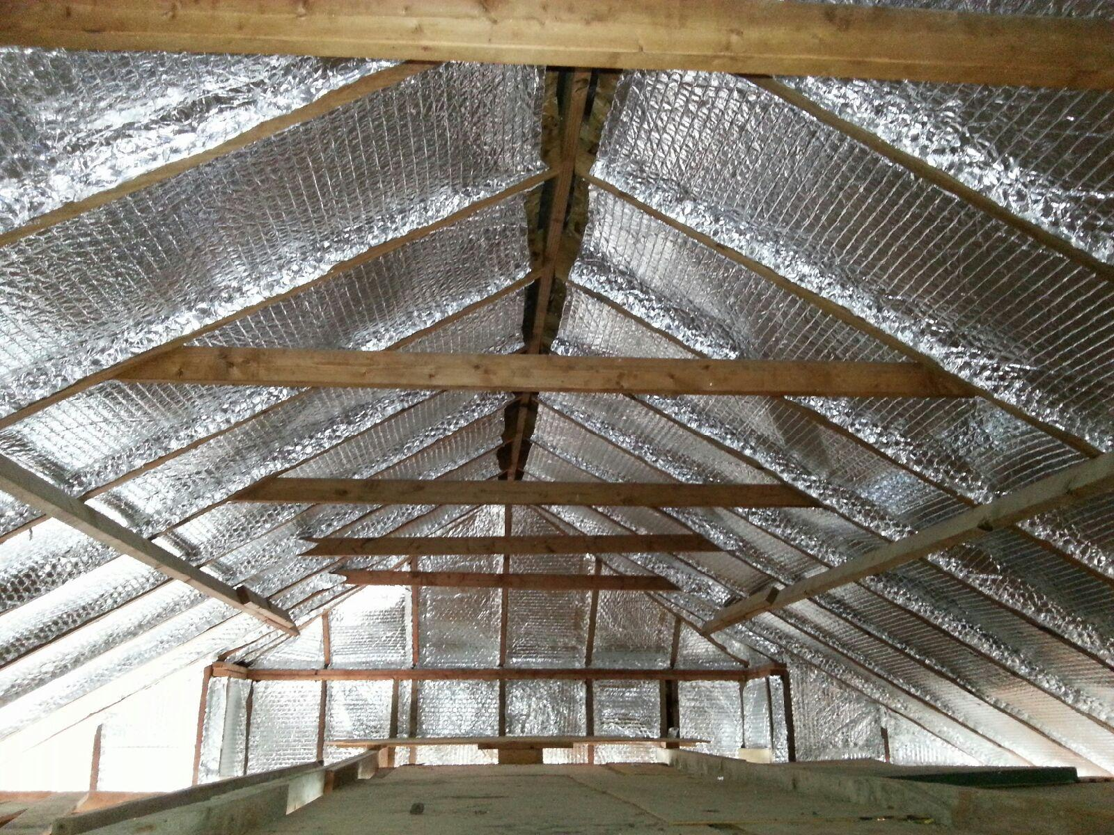 Radiant barrier energy diagnostics radiant barrier roof sheathing new lightweight r4 attic - Attic thermal insulation ...